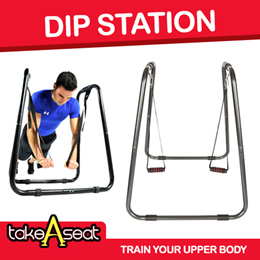 Dip Station Stand With Straps Tricep Trainer