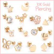 ★Case Gift▶Genuine 10K Gold Earrings/ValentinesDay/Chinese New Year/Gifts/Ear studs/Piercings/Unique