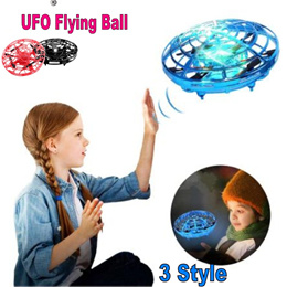 NEW UFO Flying Ball Toys * Anti-collision Mini Induction Drone 360° Rotating LED *Kids TOY