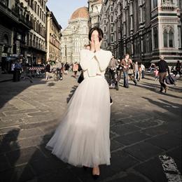 3ca44c6bd ○LOWEST PRICE GUARANTEE○Pretty fluffy Gauze Maxi long tutu tulle Skirt