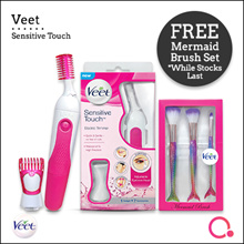 [RB Health]【FREE Mermaid brush】Veet - Sensitive Touch Electric Trimmer | New improved features