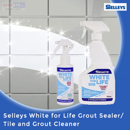 【Selleys】White for Life -  Grout Sealer 125ml / Tile and Grout Cleaner 750ml