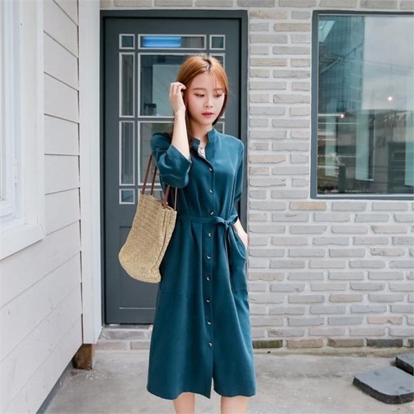 マーク、マックス・ペイディン7部ワンピースnew シャツ型ワンピース/ワンピース/韓国ファッション