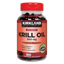 Kirkland Krill Oil 500mg 160 Gel Costco / Krill Oil / Soft Gel