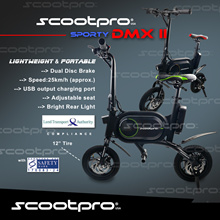 ★ Scootpro DMX II ★  Aircraft Grade Material ★ USB Charging Port ★ LTA Compliance  ★ Dual Disc Brake