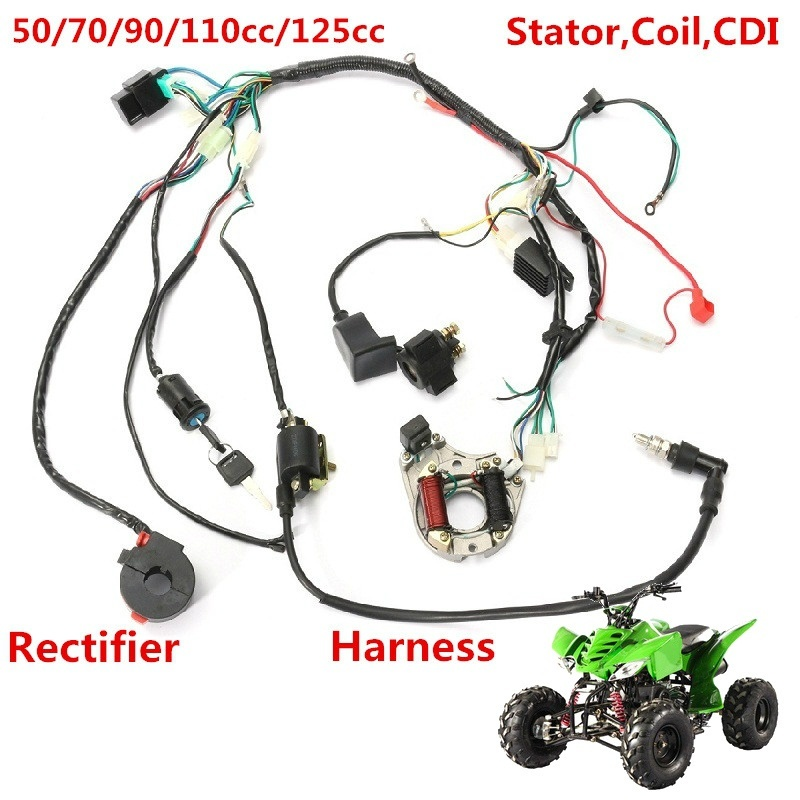 qoo10 1 set wire harness wiring cdi assembly for 50 70 90 110cc