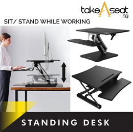 Ergonomic Standing Desk / Height Adjustable / Easy Lifting / PC Monitor / Sit or Stand At Work