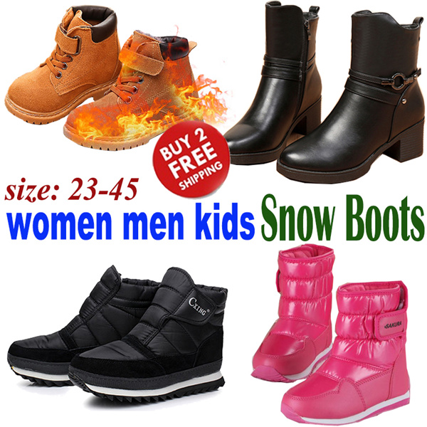 Winter Wear/Kids Women Men Winter Snow Boots/ Girl Boy Children Non-slip Fur Waterproof Warm Shoes Deals for only S$159 instead of S$0