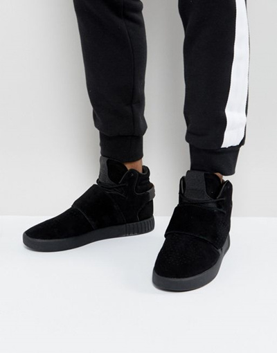 official photos aa785 c7c72 adidas Originals Tubular Invader Strap Sneakers In Black BY 3632