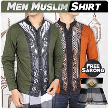 Kemeja Muslimin Pria Baju Koko Lengan Panjang + Sarung