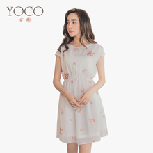 YOCO - Dainty Floral Tea Dress-180610