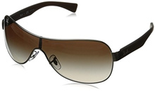 [Direct from USA] Ray-Ban RB3471 Shield Sunglasses 132 mm, Non-Polarized