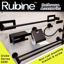 RUBINE Black color Bathroom Accessories/Globe 5200 Series/Toilet Hook/Towel Rod