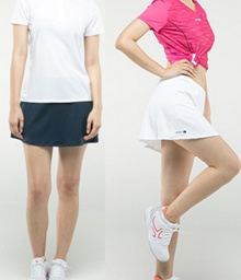 Lady Sports Tennis badminton weekend shopping Lady Short Skirt with inner pants 8356639