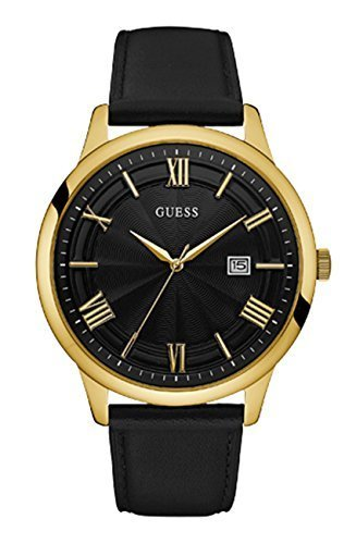 69ebecd63 Qoo10 - Guess Watches Men s Guess Men s Leathe Black-Gold Watch ...
