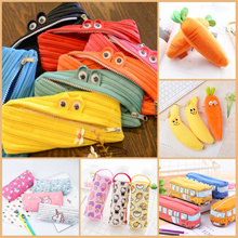 [my1stshop] Monster Zipper Pencil Case/Unicorn/Carrot/Banana/School Bus Pencil Case