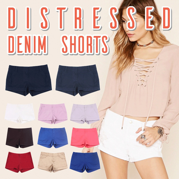 NEW COLLECTION Distressed Denim Short for woman/ 11 colors/ Celana pendek/ Good Quality / Celana Wanita Deals for only Rp79.000 instead of Rp79.000