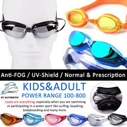 ANTI FOG/UV SHIELD Swimming/Diving Goggles Adjustable Length Prescription Degree Len for Shortsighte