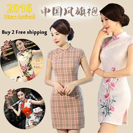 【2019 Chinese new year】women elegant cheongsam/Chinese dress /旗袍/Traditional qipao