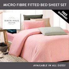 ★JAPAN BRAND★ Rinen Haus Micro Fibre Fitted bed Sheet Set  Single/Super Single/Queen/King Size