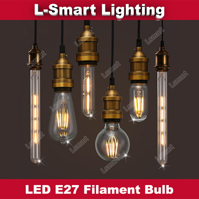 Led Light Bulb E27 Retro Filament Candle Energy Saving House