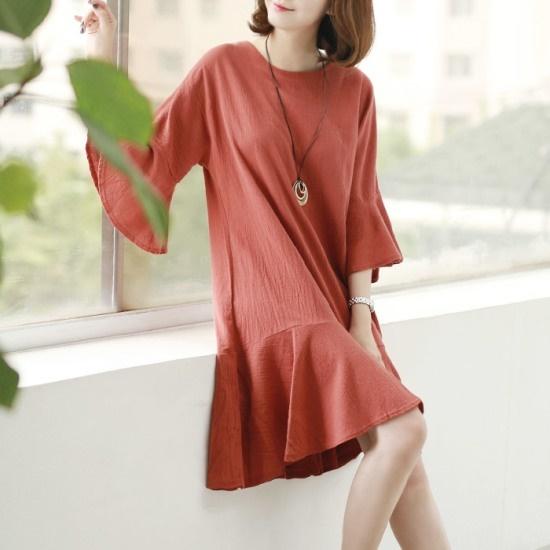 ウェンディジュギャラリーステラワンピースKOP004 綿ワンピース/ 韓国ファッション
