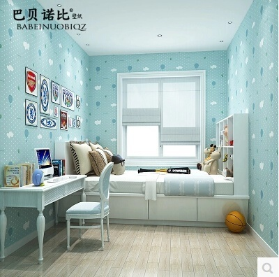 Non Woven Wallpaper Childrens Room Cute Cartoon Boys And Girls Bedroom Strawberry Wallpape