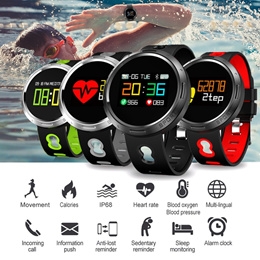 X9 VO Color LCD Smart Bracelet IP68 Waterproof Swim Smartwatch Heart Rate Monitor Pedometer Fitness