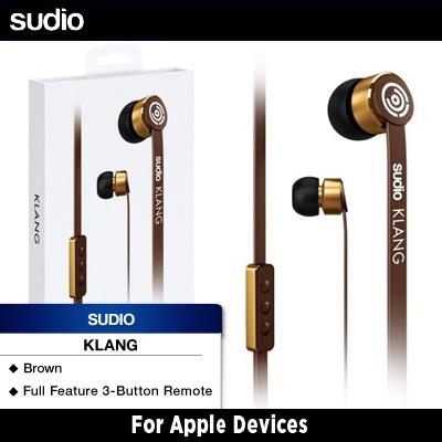 Sudio Klang Earphones For Apple Devices (Brown)