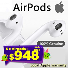 5 x Apple AirPods Wireless headset ★ Local APPLE Warranty★ Authentic Product