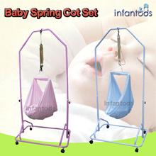 [INFANTODS] Spring Cot Set. Manual Baby Cradle. Hammock Sarong Yao Lan. Spring Cot.Swing. Bouncer.