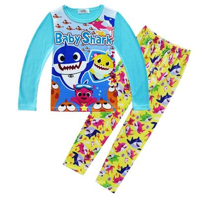 469d3ae85 Baby shark PinkFong print pajamas cartoon kids boys girls clothing set top  and pant 2pcs set