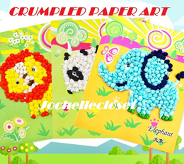Crumpled Paper Art Mosaic Art  Children Art and Craft DIY Goodies Bags Party Gifts