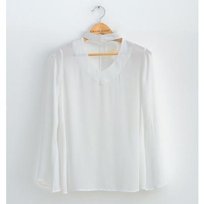 06. choker blouse - white - free