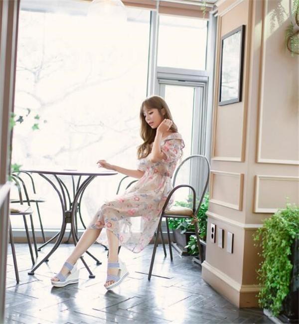 レディースワンピース ビーチワンピース シフォン プリント ファッション ハイセンス 着心地いい おしゃれ 夏 レディースワンピース