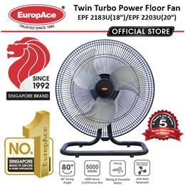 EuropAce 18/20 Inches Power Fan EPF 2183U / 2203U - 4S Ball Bearing + Oscill