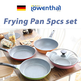 *[Korea Authentic] ★ K12 Lowenthal Frying pan 5pcs set★ CNY New year /made in korea / wok grill