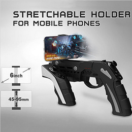 PEGA 9057 Gun Style Wireless Bluetooth Game Controller Joysticker Gamepad Handset for Android IOS PC