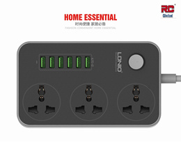 Universal Electric Extension Socket  with 6 USB Charger port / SG Plug ( LDNIO SC3604)