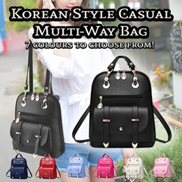♥ New In Korean Style Casual Multi-Way Bag ♥ Stylish Backpack Shoulder Bag Many Compartments!