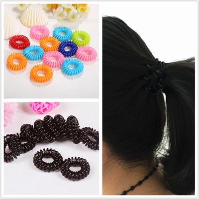 Girl Rope Elastic Rubber Hair Ties Scrunchies Hair Bands Bobbles  Ponytailers Ponytail Holders fb3b46bac30