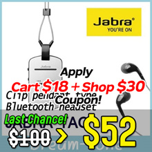 JABRA TAG Bluetooth Play Music.Clip Pendant Type Stereo Bluetooth Headset/Take Calls. Wirelessly.