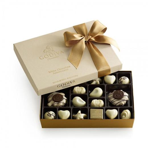 Qoo10 Godiva Chocolatier White Chocolate Assortment Gift Box Drinks Sweets
