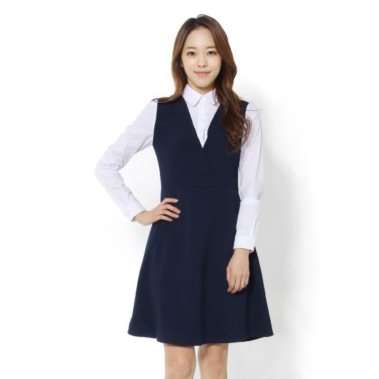 ルシャプLeShopシャツレイヤードVネクワンピースLH3OP300 面ワンピース/ 韓国ファッション