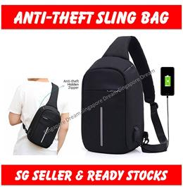 Anti-theft Sling Bag / Intelligent USB Charging Messenger Bag / Shoulder Bag Travel Backpack