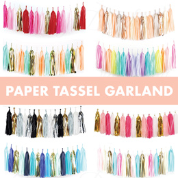  [PARTY] Paper Tassel Garlands ♥ Party ♥  Wedding ♥  Decoration ♥ Garlands