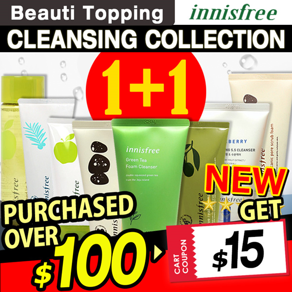 2019 RENEWAL!?1+1?Qoo10 LOWEST PRICE?Innisfree?Cleansing Foam Best Line!?Cleanser / Oil / Cream Deals for only Rp66.600 instead of Rp170.769