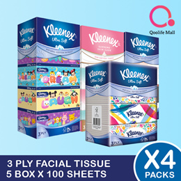 [Kimberly Clark] Kleenex 3-Ply Facial Tissue Paper *BUNDLE OF 4*
