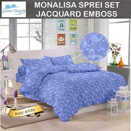 Promo Sale Monalisa Sprei Jacquard Emboss Uk 120-160-180 T 20