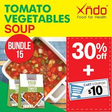 [Bundle of 15] Tomato Vegetables Soup